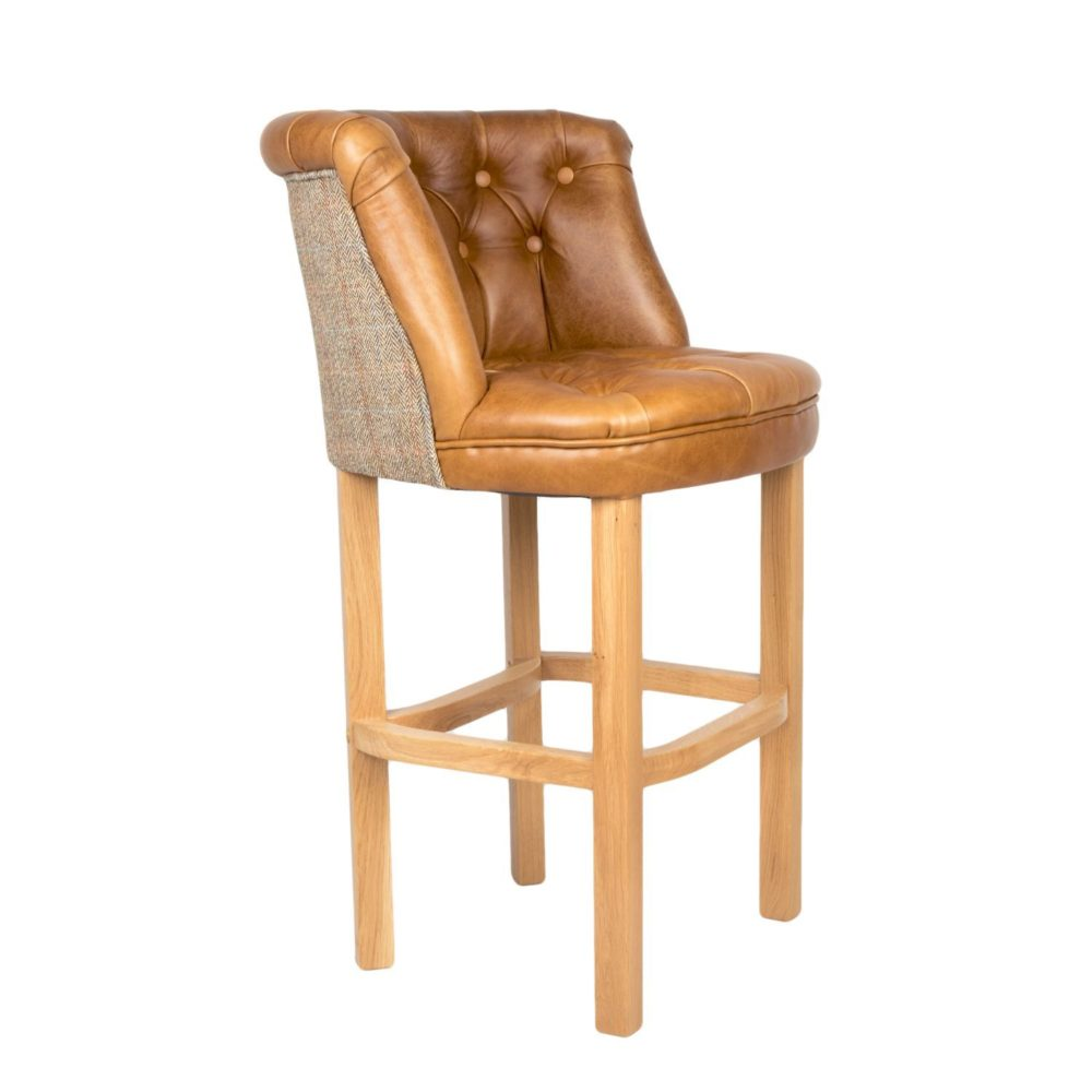Bentley Barstool Cerato Brown Leather Gamekeeper Thorn