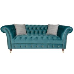 Chester 3 Seater Sofa Opulence Teal front