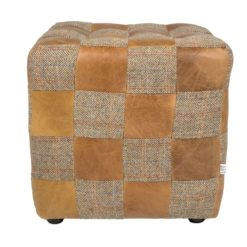 Patchwork Block Cerato Brown Leather and HT Gamekeeper Thorn