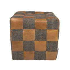 Patchwork Block Brown Cerato Harris Tweed Uist Night