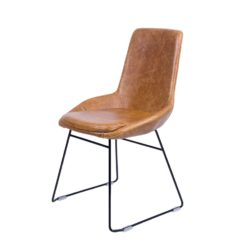 Stan Chair Cerato Brown Leather